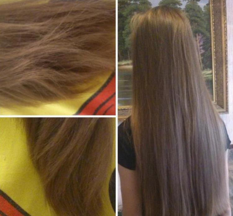 Масло способствует росту волос, укрепляет их.