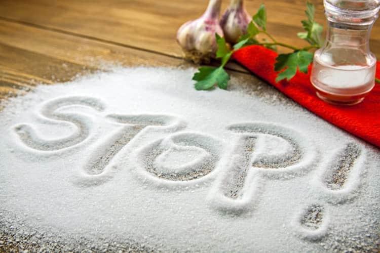 Эта система питания предусматривает ограничение употребеления соли.
