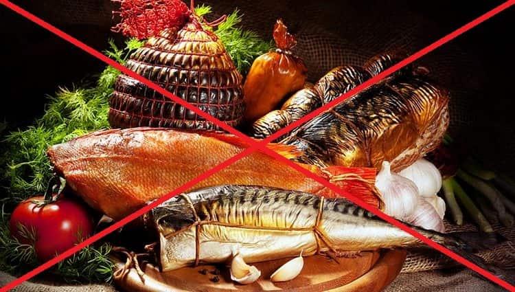 Есть также ряд пищевых противопоказаний при силикозе.