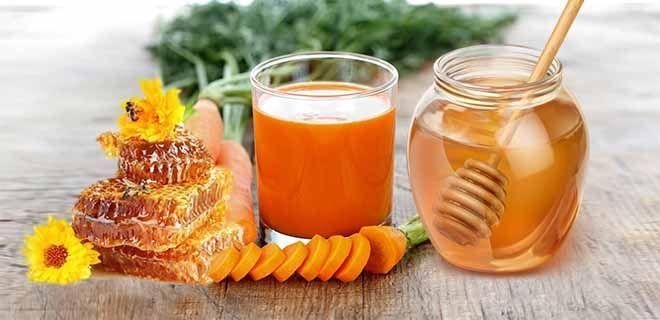 Морковный сок с мёдом