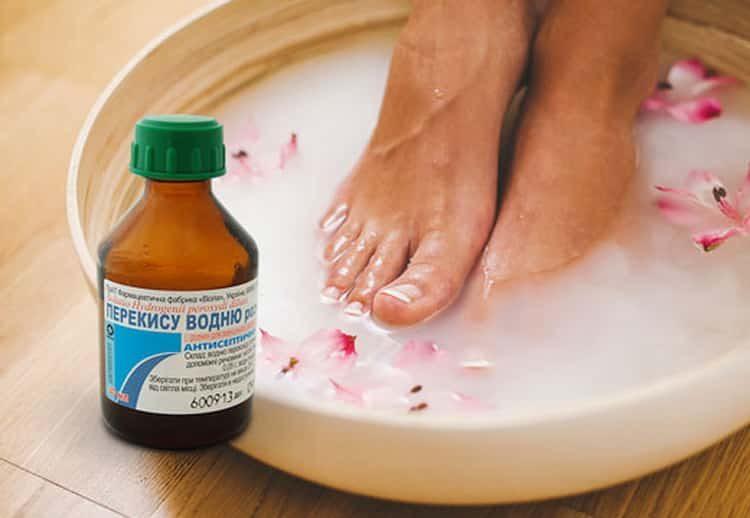 Как самостоятельно изготовить ванночку для ног с перекисью водорода