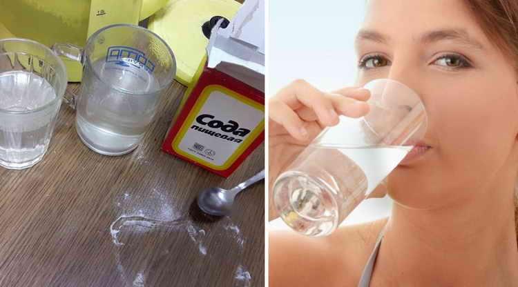 как пить соду от изжоги