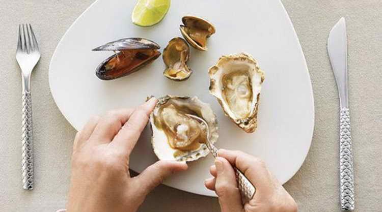 устрицы и другие морепродукты при гормональном сбое