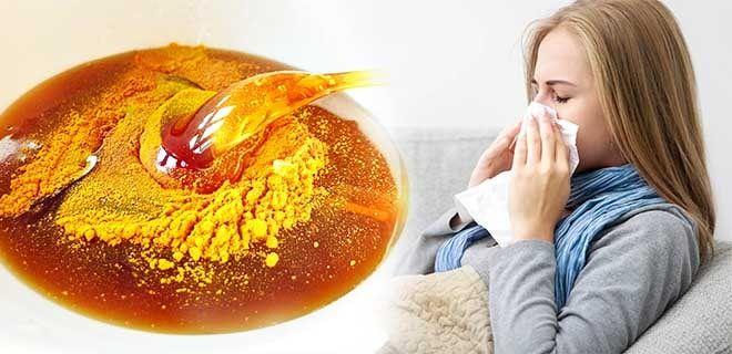 Куркума с медом от простуды