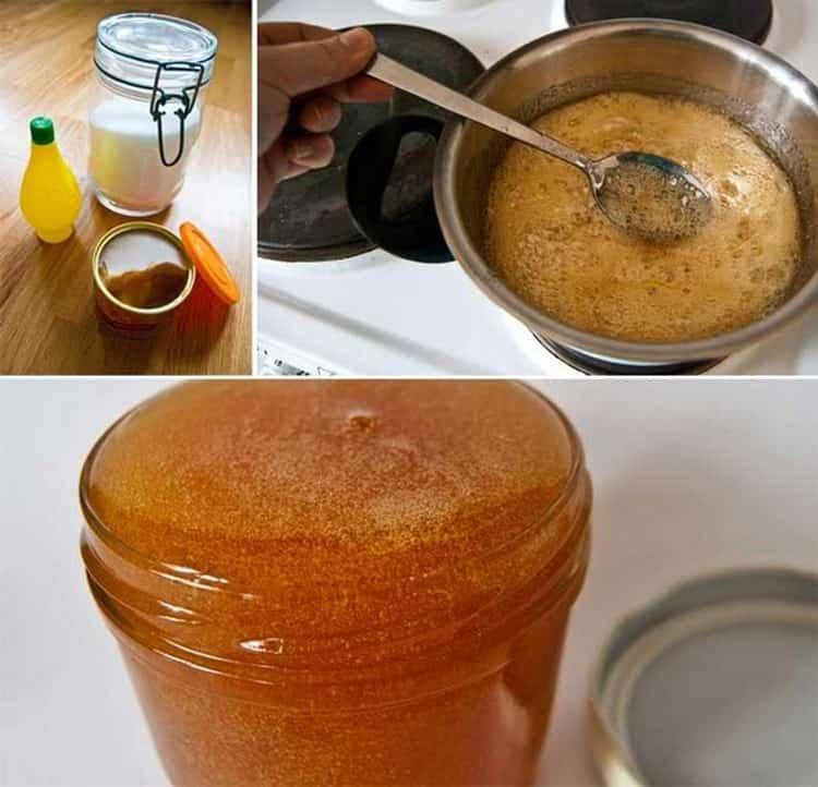 сварить пасту для шугаринга в домашних условиях можно также с медом.