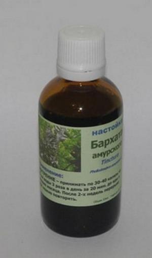 При многих заболеваниях используется настойка амурского бархата.