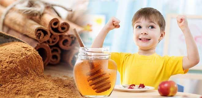 Корица с медом для детей