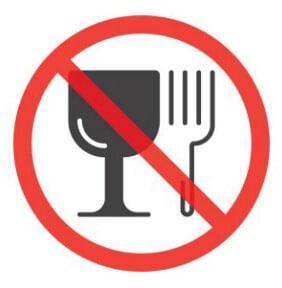 Запрещено пить и есть