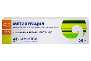 Как лечить геморрой Метилурациловой мазью