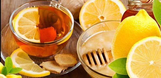 Чай, лимон, мед