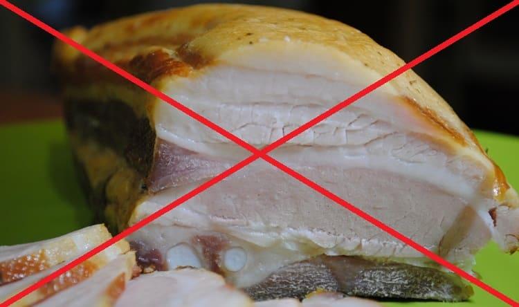 Копчености, жирная еда под запретом.