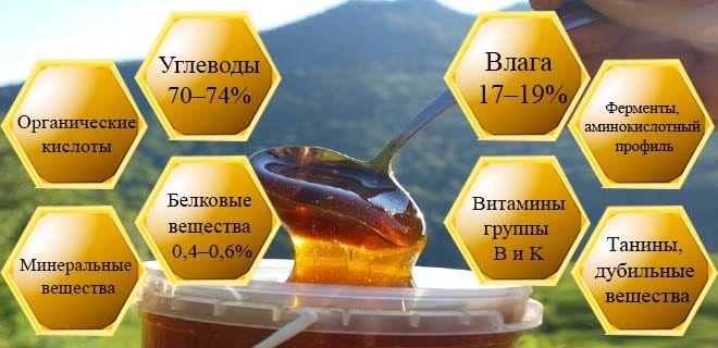 Состав горного меда