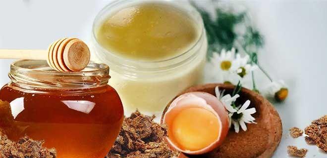 Мазь из прополиса, яичного желтка и меда