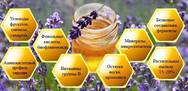 Состав лавандового меда