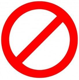 Знак запрещающий что-либо делать