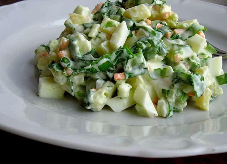 Как сделать салат из череды