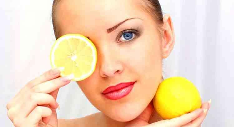 Лимон в составе масок для лица