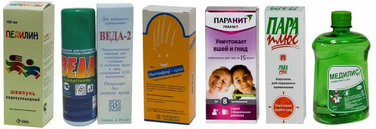 Спреи и шампуни при педикулкезе