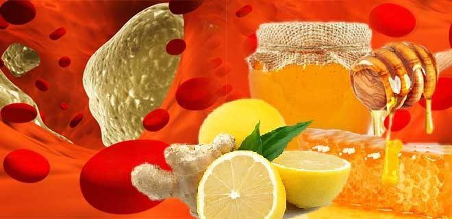Имбирь с лимоном и медом от холестерина