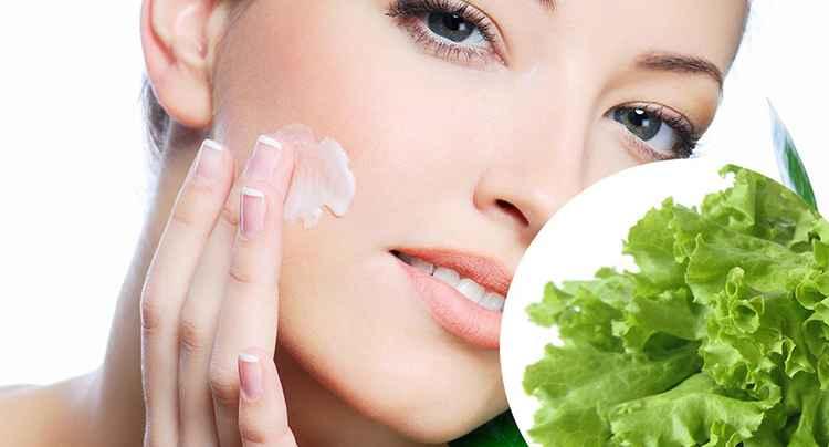 Листья салата применяется в масках для лица