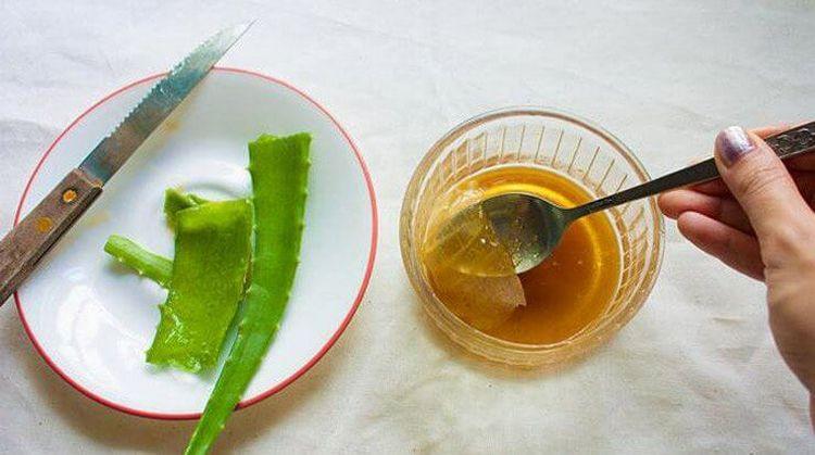 Применяют для лечения также смесь алоэ, меда и масла.