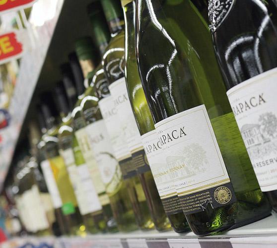 Алкоголь в магазинах