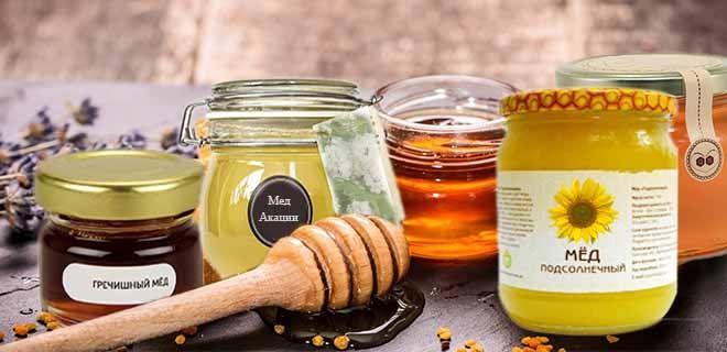 Акациевый, гречишный, подсолнечный мед