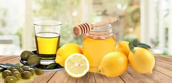 Мед, лимон и оливковое масло