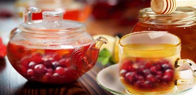 Чай с клюквой и медом