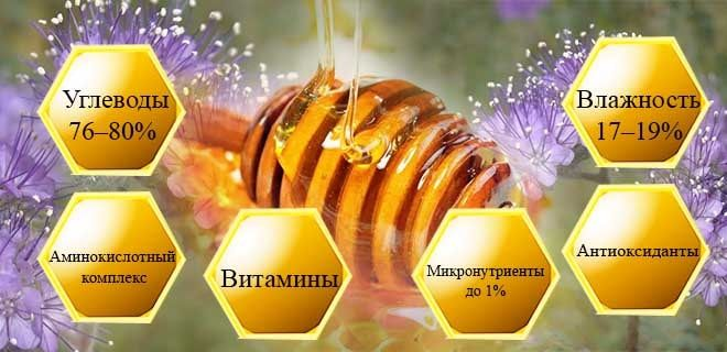 Состав фацелиевого мёда
