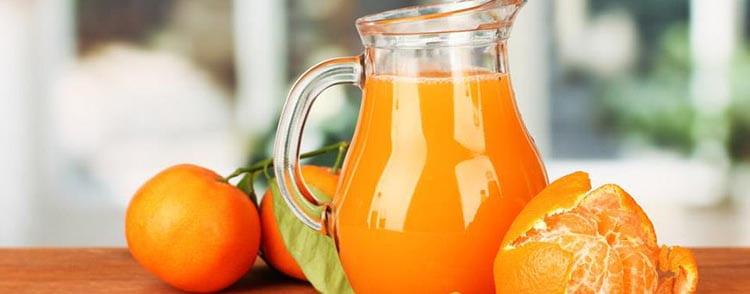 Вкусный и полезный сок мандарина