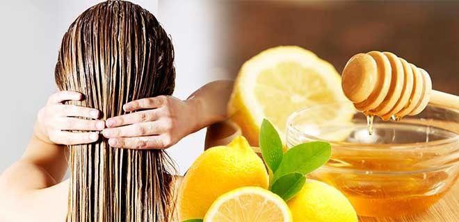 Мед и лимон для волос