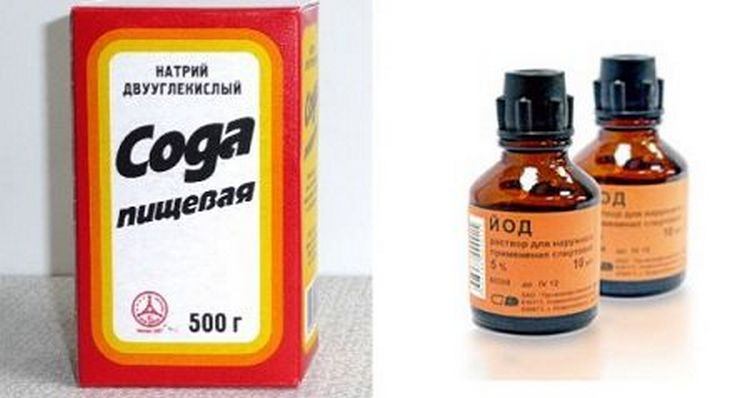 Для лечения молочницы можно использовать раствор соды с добавлением йода.